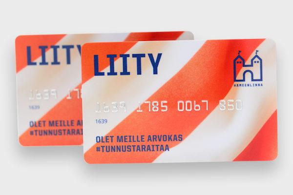 Offset printed membership card