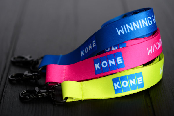 Kone Lanyards with sublimation printing