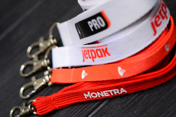 Screenprinted lanyards with logo