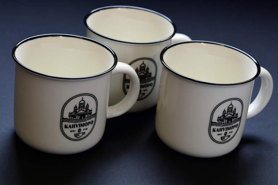 Customized porcellaine mug with logo