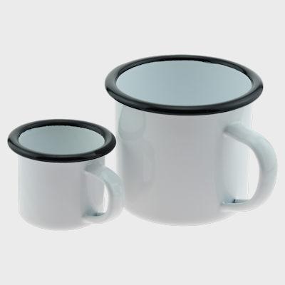 Enamel Mug Retro and Espresso