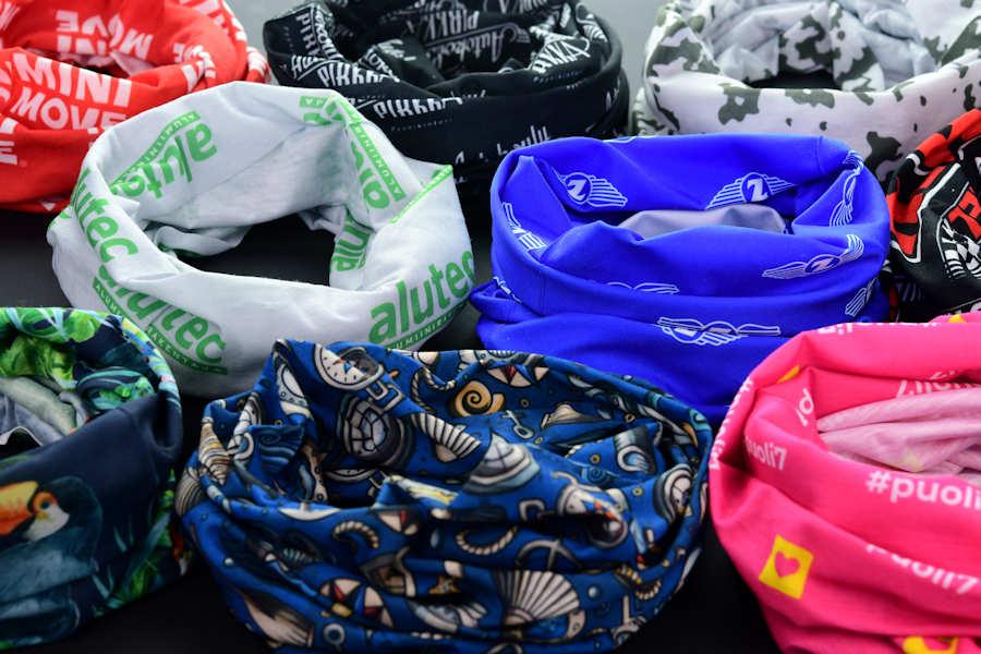 Custom face and neck gaiter bandanas printing