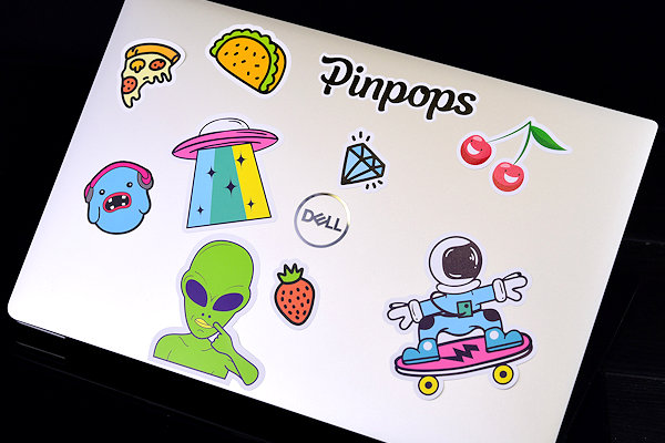 Laptop stickers with custom print