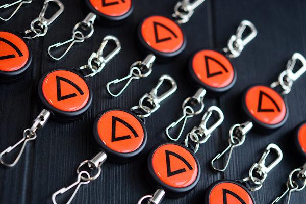 Yoyo badge reel with custom logo