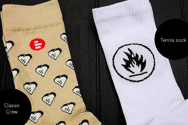 Classic Crew Sock & Tennis Sock comparison